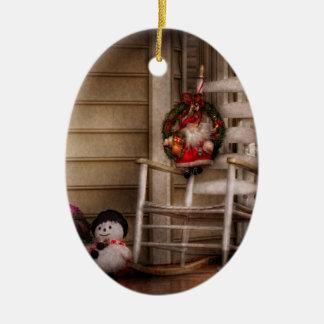 Invierno - Metuchen, NJ - para Santa que espera Ornamento Para Reyes Magos