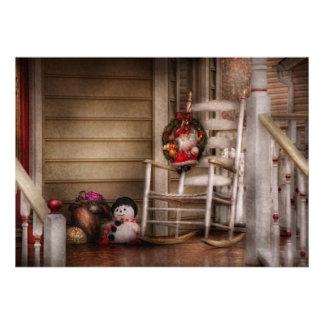 Invierno - Metuchen, NJ - para Santa que espera Comunicado Personalizado