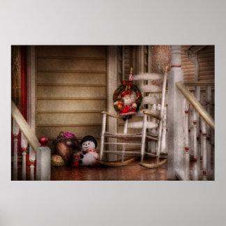 Invierno - Metuchen NJ - para Santa que espera Poster