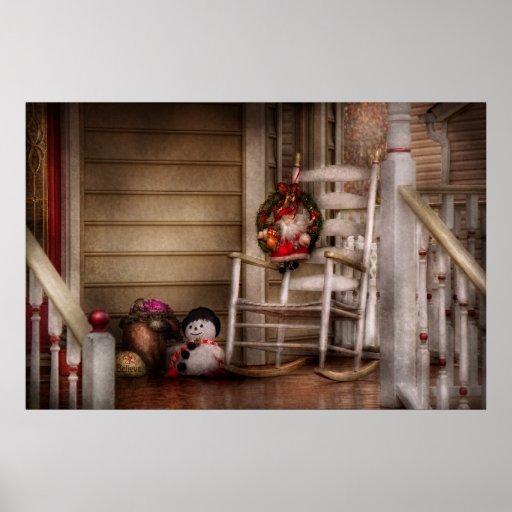 Invierno - Metuchen, NJ - para Santa que espera Poster