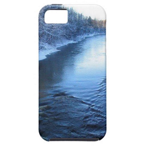 Invierno nevado del agua iPhone 5 carcasas