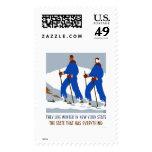 Invierno Nueva York del esquí WPA 1938 Sello