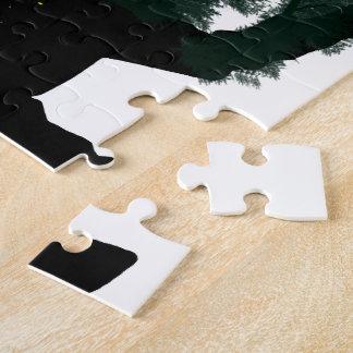 Invierno Paintball en las maderas Puzzles