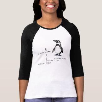 Invierno para el pingüino playeras