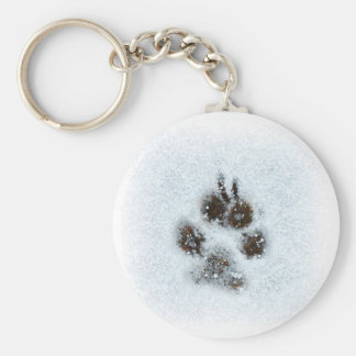 Invierno Pawprint Llaveros Personalizados