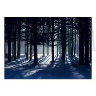 INVIERNO: Pinos en nieve Tarjeta Pequeña