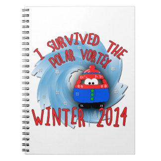 Invierno POLAR del VÓRTICE 2014 Libro De Apuntes Con Espiral