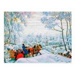 """""""Invierno"""" por Boris Kustodiev, postales de la"""