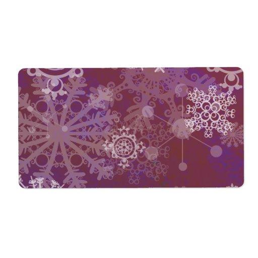 Invierno púrpura etiqueta de envío