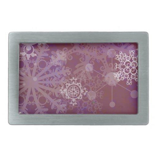Invierno púrpura hebillas de cinturon rectangulares