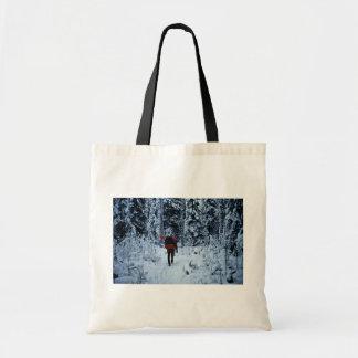 Invierno que hace excursionismo en la fauna nacion bolsas lienzo