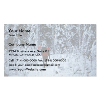 Invierno que hace excursionismo en la fauna nacion plantillas de tarjetas de visita