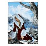 Invierno que soña la tarjeta de Navidad de la fant