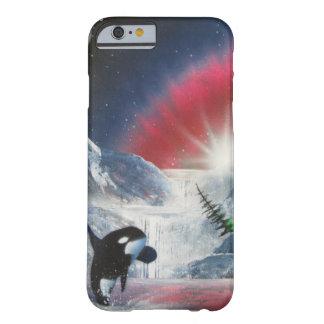 Invierno que viola el caso de IPhone de la ballena Funda Barely There iPhone 6