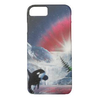 Invierno que viola el caso de IPhone de la ballena Funda iPhone 7