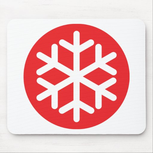invierno rojo del copo de nieve alfombrilla de raton