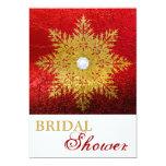 Invierno rojo del oro del copo de nieve que casa anuncio personalizado