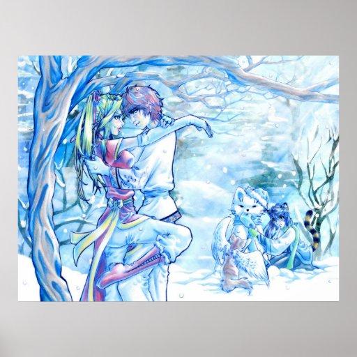 Invierno romántico póster