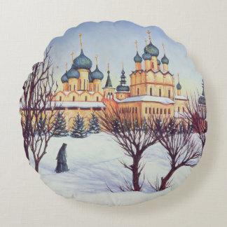 Invierno ruso 2004 cojín redondo