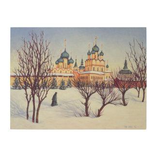 Invierno ruso 2004 impresión en madera