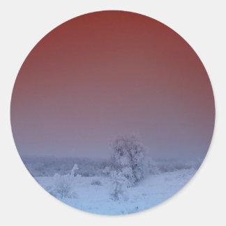Invierno septentrional 4 de Maine Etiquetas Redondas