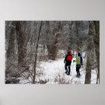 Invierno Snowshoeing Impresiones