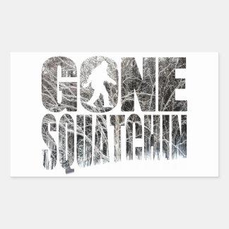 Invierno *Special ido Edition* de Squatchin Rectangular Pegatinas