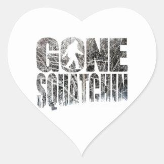 Invierno *Special ido Edition* de Squatchin Calcomania De Corazon Personalizadas