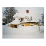 Invierno sueco tarjetas postales