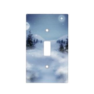 Invierno surrealista placa para interruptor