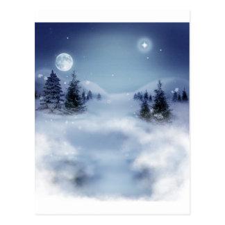 Invierno surrealista tarjetas postales