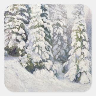 Invierno Tale, 1913 Pegatina Cuadrada