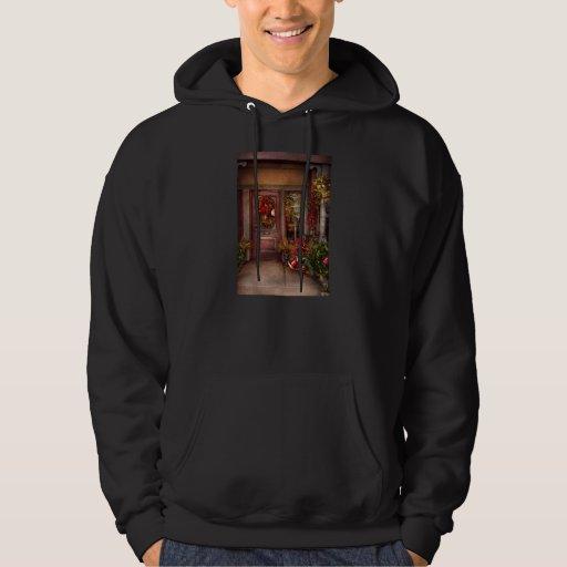 Invierno - tienda - vestido para los días de suéter con capucha