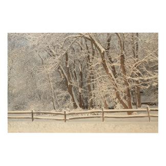 Invierno - Westfield, NJ - día de la nieve Impresiones En Madera