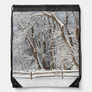 Invierno - Westfield, NJ - día de la nieve Mochila