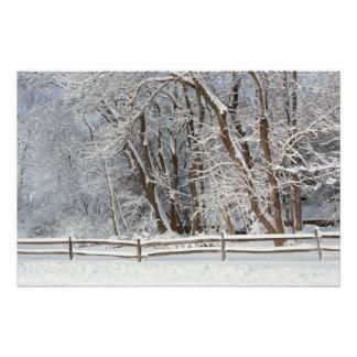 Invierno - Westfield, NJ - día de la nieve Perfect Poster