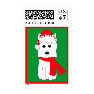 Invierno Westie Sello Postal