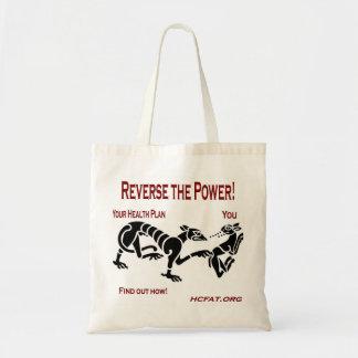 Invierta el poder bolsa tela barata