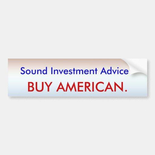 Invierta en América Pegatina Para Auto
