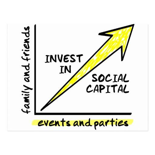 INVIERTA EN CAPITAL SOCIAL TARJETA POSTAL