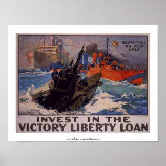 Invierta en el préstamo de la victoria póster
