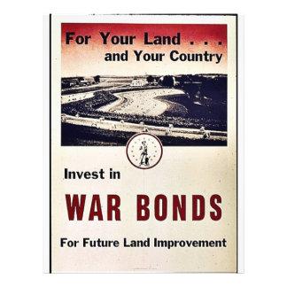 """Invierta en enlaces de guerra folleto 8.5"""" x 11"""""""