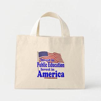 Invierta en la enseñanza pública bolsa de mano