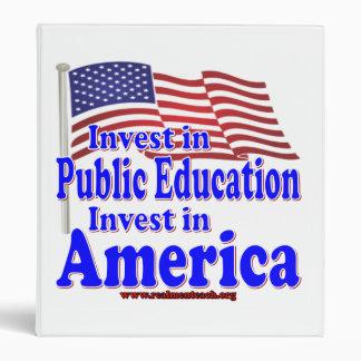"""Invierta en la enseñanza pública carpeta 1"""""""