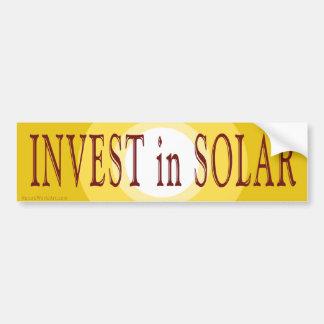 Invierta en pegatina para el parachoques solar etiqueta de parachoque