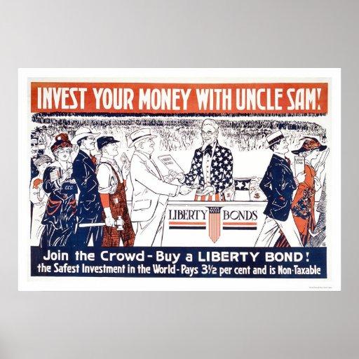 Invierta su dinero con tío Sam Póster