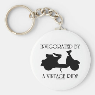 Invigorated By A Vintage Ride (Motor Scooter Fan) Keychains