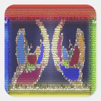 Invincible Helping Hands : Supernatural Spiritual Square Sticker