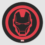 Invincible Iron Man Classic Round Sticker