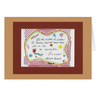 Invincible Summer Greeting Cards
